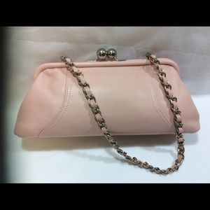 TIGNANELLO LEATHER BABY PINK CLUTCH BAG